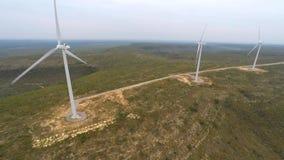 Wind farm aerial 4k video stock video footage