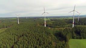 Wind farm stock video