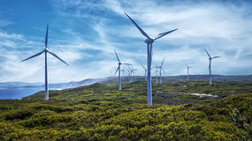 Wind Farm. Albany Wind Farm In the South West - Western Australia Royalty Free Stock Photo