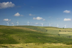 Wind Farm - alternative energy source Stock Photos