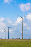 Wind farm. On a background of sky Royalty Free Stock Photography