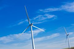 Wind Farm with blue sky Royalty Free Stock Photography