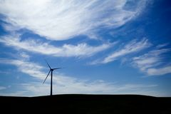 Wind Farm with blue sky Stock Image