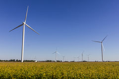 Wind Farm in Central Indiana. Wind and Solar Green Energy areas are becoming very popular in farming communities II Royalty Free Stock Images