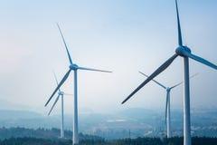 Wind farm closeup Royalty Free Stock Photo