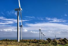 Wind farm in countryside Royalty Free Stock Photo