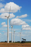 Wind farm in countryside Stock Images