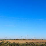 Wind farm in countryside Stock Photos