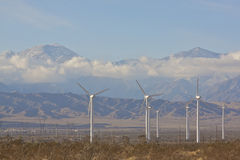 Wind Farm in the Desert Royalty Free Stock Images