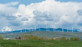 Wind farm Eastern Washington State Stock Images