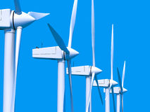 Wind farm generators royalty free illustration