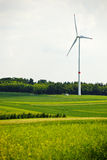 Wind Farm on a green meadow Royalty Free Stock Photo