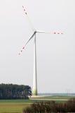 Wind farm. High windmills field Royalty Free Stock Photo