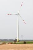 Wind farm. High windmills field Stock Photography