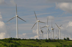 Wind farm on the hill Stock Photography