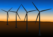 Free Wind Farm In Sunset Stock Photography - 13023832
