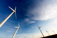Wind farm, Industrial Eolic installation Royalty Free Stock Photography