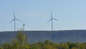 Wind farm 4k stock video footage