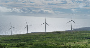 Wind farm in Maui Hawaii Stock Photos