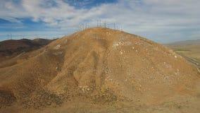 Wind farm on a mountain stock video footage