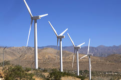 Wind farm near Palm Springs,CA royalty free stock images