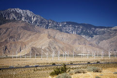 Wind farm near Palm Springs,CA Stock Photos