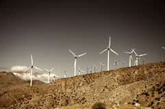 Wind farm near Palm Springs,CA Royalty Free Stock Photography