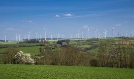 Wind farm in North Rhine-Westphalia, Germany, Europe Royalty Free Stock Image