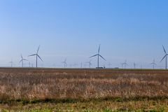 Wind Farm in north Texas stock photos