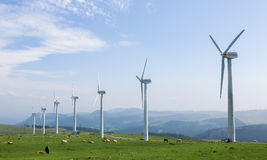 Wind farm. Onshore wind farm in the Northern part of Galicia, Spain Stock Photography