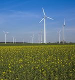 Wind farm  at Paderborn, North Rhine-Westphalia, Germany, Europe Stock Image