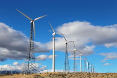 Wind farm. In palmdale, california generating green, renewable enegy royalty free stock images