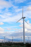 Wind farm. In palmdale, california generating green, renewable enegy stock photography