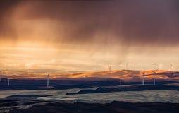 Wind farm Palouse, Washington stock photos