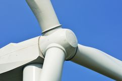 Wind farm propellor in close up Royalty Free Stock Image