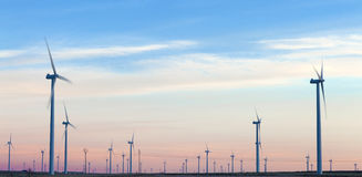 Wind farm. Renewable energies. Wind farm. Wind Turbines Stock Images