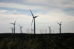 Wind Farm. Renewable power wind farm in operation Stock Image