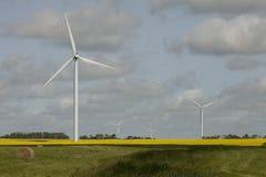 Wind farm in Saskatchewan, Canada Stock Image