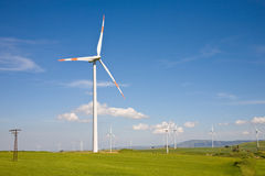 Wind farm, Sicily, Italy Stock Photography