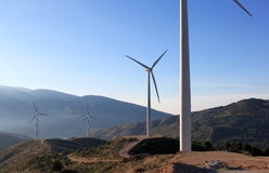 Wind Farm in the Sierra Nevada, Andalusia, Spain Stock Images
