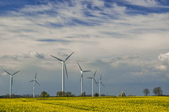 WIND FARM IN SPRING Stock Photography