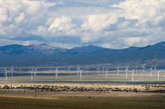 Wind Farm in Spring Valley, Nevada Royalty Free Stock Image