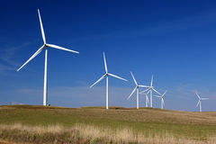 Wind Farm. On a sunny calm day with blue sky Stock Image