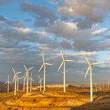 Wind Farm at Tehachapi Pass, California, USA Stock Photography