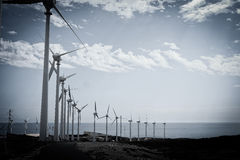 Wind farm in Tenerife to make clean energy Royalty Free Stock Image