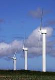 Wind farm turbine power generator masts Royalty Free Stock Images