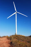 Wind farm turbines on Spanish farmland Royalty Free Stock Photography