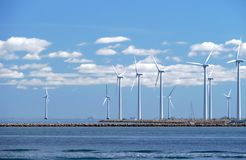 Wind farm w5 Royalty Free Stock Images