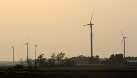 Wind Farm. Windmills in the middle of Michigan Stock Photography
