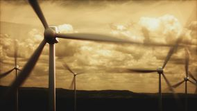 Wind Farms Power Generation Electrical Energy stock footage